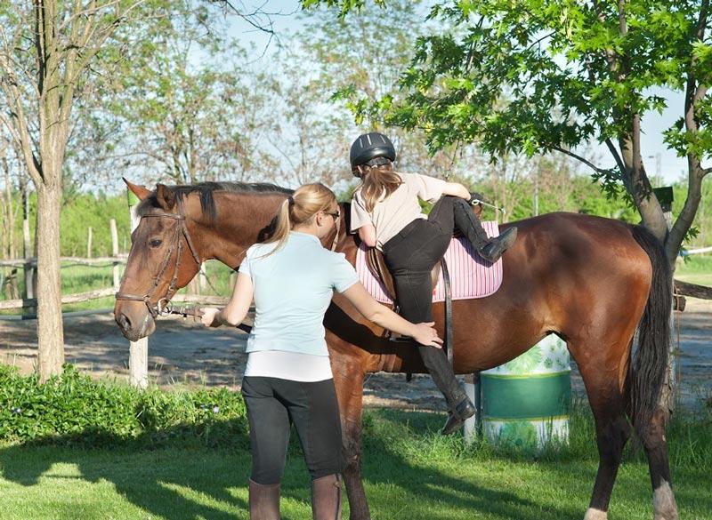 Cómo subir caballo