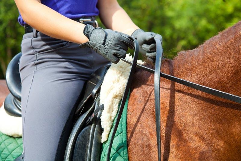 Postura montar caballo